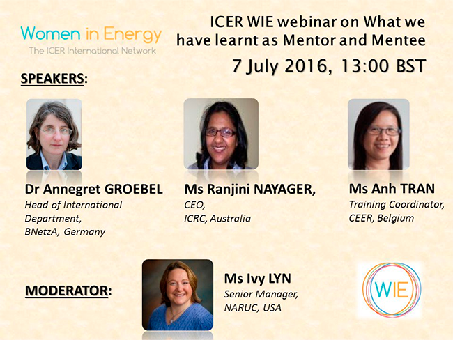 ICER WIE Webinar What we have learnt as Mentor and Mentee