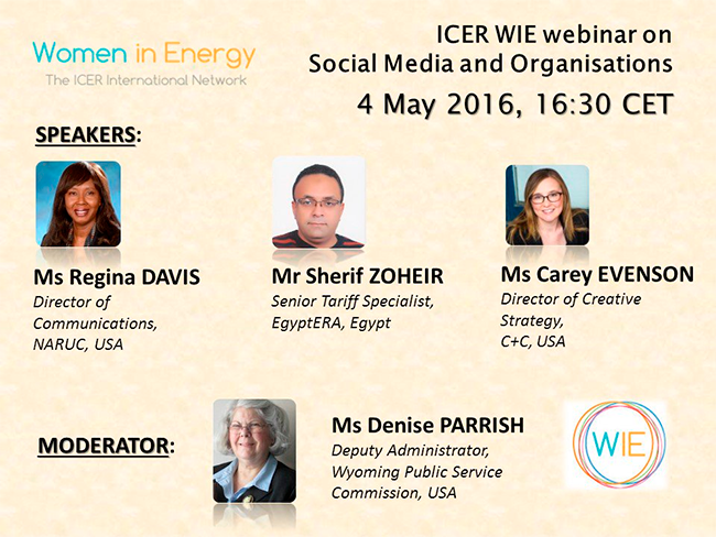 ICER WIE Webinar Social Media and Organisations