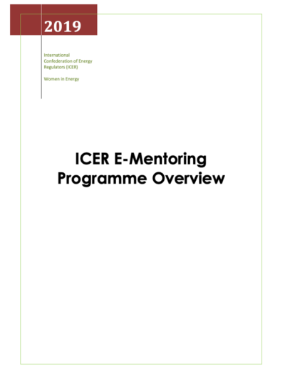 E-Mentoring Programme Overview ICER